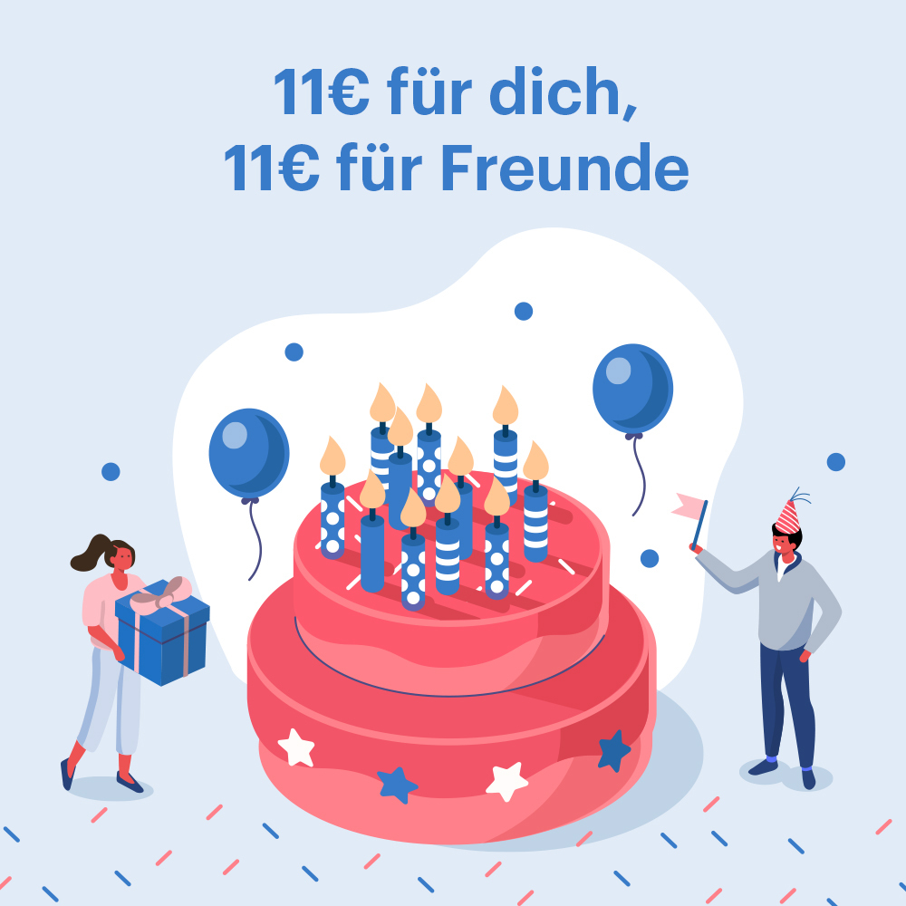 11 Jahre Shoop: 11€ Bonus für dich + 11€ Extra-Cashback für deine Freunde