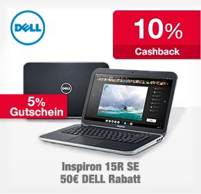 Dell: 10% Cashback+ Gutscheinkombi- Dell Inspiron 15R Spezial Edition für 564,73€ inkl. Versand!