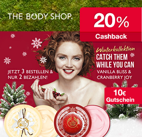 The Body Shop begeistert mit 3 tollen Rabatt-Gutscheinen + 15% Cashback