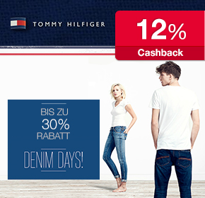 Denim Days bei Tommy Hilfiger: 30% Rabatt + 12% Cashback
