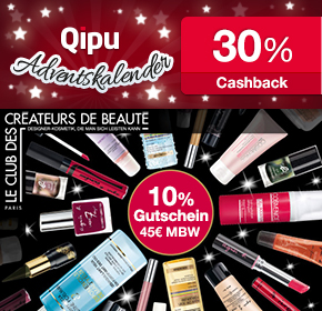 9. Türchen: 30% Cashback + 10€ Gutschein bei Le Club des Créateurs de Beaute