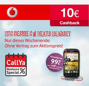 TOP Prepaid-Handy Angebote bei Vodafone: HTC Desire C inkl. Beats-Audio Headset: Effektiv nur 89€ oder Samsung Star II für effektiv nur 9,90€ (jeweils +10€ Startguthaben)