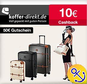 Shoop.de im Reisefieber: Koffer-Direkt mit 50€ Gutschein und 10€ Cashback