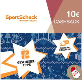 15. Adventstürchen: Sportscheck mit 10€ Cashback für alle Einkäufe ab 30€ Bestellwert