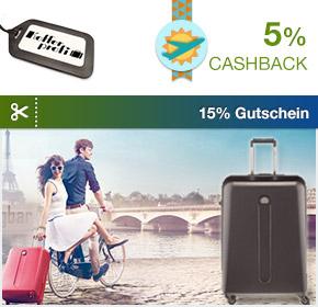 Shoop.de im Reisefieber: Kofferprofi mit 5% Cashback und 15% Gutschein auf Reisegepäck