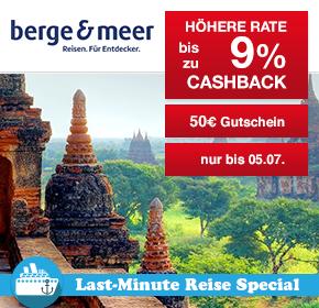 Shoop.de im Reisefieber: Berge & Meer mit bis zu 9% Cashback und 50€ Gutschein