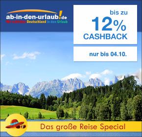 Das große Reise Special: Ab-in-den-Urlaub mit bis zu 12% Cashback