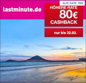 🐰 Osterferien in der Sonne? 🐰  Jetzt 80€ Cashback auf deine Lastminute- oder Pauschalreisebuchung bei lastminute.de