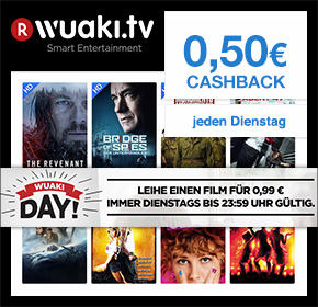 Wuaki Day! Filme in HD leihen für nur 99 Cent + 50 Cent Cashback