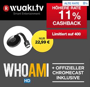 "Wuaki.tv: Google Chromecast 2 + ""WHOAMI"" für 22,99€  + 11%  Cashback"