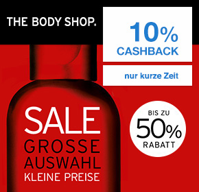 The Body Shop: Bis zu 50% Sale + 10% Cashback auf deine Bestellung