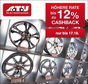 A.T.U.: Bis zu 12% Cashback + 19% Mehrwertsteuer beim Kauf von Winterreifen und Winterkompletträdern geschenkt