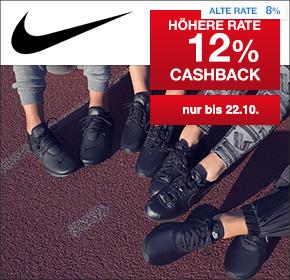 Nike: 12% Cashback auf valide Bestellungen