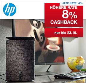 HP – Hewlett Packard mit 8% Cashback – Nur diesen Samstag und Sonntag!