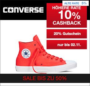 Converse: 10% Cashback + 20% Gutschein auf Sale