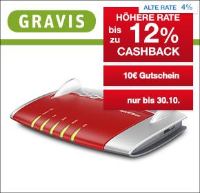 Gravis: Bis zu 12% Cashback + 10€ Gutschein