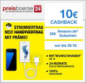 preisboerse24:  Stromvertrag mit Prämie + 10€ Cashback + 25€ Amazon.de Gutschein*[Energy Special]