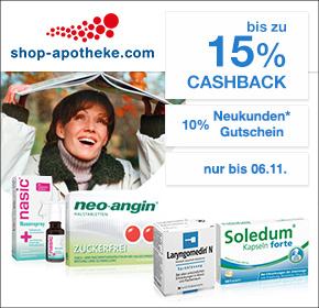 Shop-Apotheke: Bis zu 15% Cashback + 10% Gutschein