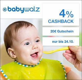 babywalz: 20€ Gutschein + 4% Cashback [ nur heute, 24.10. ]