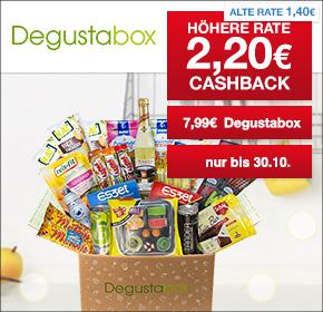 Degustabox: 2,20€ Cashback + 1. Box für 7,99€