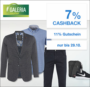 Galeria Kaufhof: 7% Cashback + 11% Gutschein ab 89€ Mindestbestellwert