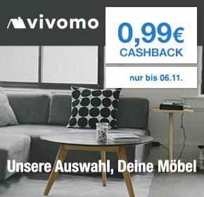 Vivomo: 99 Cent Cashback für die Newsletter Anmeldung