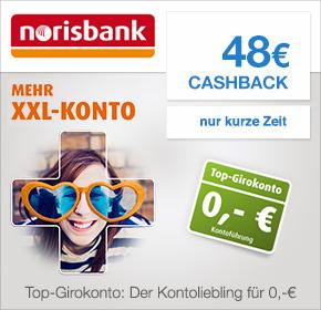 48€ Cashback für Dein kostenloses Girokonto bei der norisbank