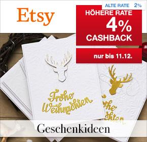 Etsy: 4% Cashback + Geschenkideen zu Weihnachten