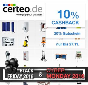 Certeo: 20% Rabatt auf alles –  nur am 25.11. + 10% Cashback [Black Friday 2016]