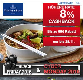 Villeroy & Boch: Bis zu 99€ Rabatt + 10€ Douglas Gutschein + 8% Cashback