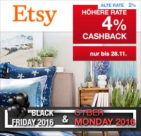 Etsy: 4% Cashback auf valide Bestellungen [Black Friday 2016]