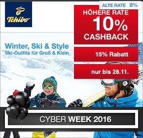 Tchibo: 10% Cashback + 15% Gutschein [Cyber Week 2016]