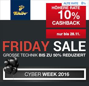 Tchibo: Friday Sale + 10% Cashback [Cyber Week 2016]