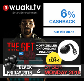 "Wuaki.tv: Google Chromecast 2 für 22,99€ inkl. ""The Gift in HD ""+ 6%  Cashback [Black Friday 2016]"