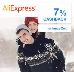 AliExpress: Ab sofort mit 7% Cashback