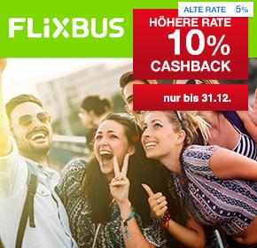10% Cashback bei Flixbus – Fernbus-Reisen ab 5€