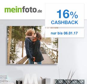 Exklusiv bei Shoop.de: 120x80cm Leinwand für 20€ auf meinfoto.de + 16 % Cashback