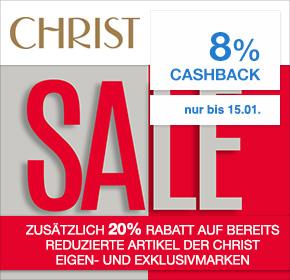 Christ: 8% Cashback + bis zu 50% Sale + 20% Gutschein auf Sale der Eigen-und Exklusivmarken