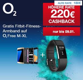 O2: Gratis Fitbit Charge 2 (UVP 159€) zu allen o2 Free Tarifen ab M + bis zu 220€ Cashback!