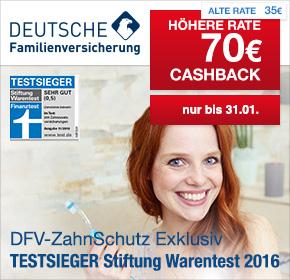 Deutsche Familienversicherung: 70€ Cashback für Deine Zahnzusatzversicherung + 20€ Amazon.de Gutschein*