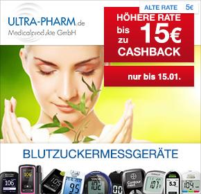 Ultra-Pharm: 15€ Cashback für Neukunden & 5% Cashback für Bestandskunden