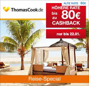 Thomas Cook: 80€ Cashback auf Deine Reisebuchung [Reisefieber 2017]