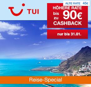 TUI: 90€ Prämie für Deine Empfehlung einer Pauschal-/Last-Minute-Reise [Reisefieber 2017]