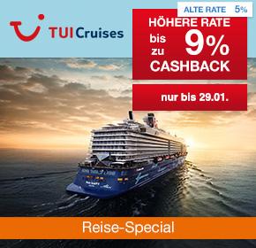 TUI Cruises: Bis zu 9% Prämie auf valide Buchungen [Reisefieber 2017]