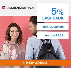 Taschenkaufhaus.de: 5% Cashback + 10% Rabatt auf Reisegepäck [Reisefieber 2017]