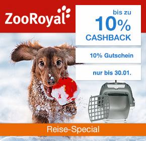 ZooRoyal: bis zu 7% Cashback + 10%  Rabatt auf Hunde Transportboxen [Reisefieber 2017]