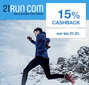 21run: Bis zu 15% Cashback + bis zu 60% Winter Sale Rabatt