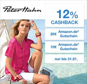 Peter Hahn mit 12% Cashback + 10€ (MBW 49€) oder 20€ Amazon.de Gutschein* ( MBW 79€)