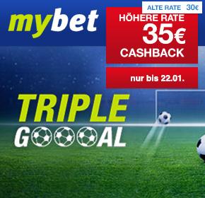 mybet: 35€ Cashback zum Fußball-Rückrunden-Start 2017
