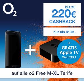 o2: Gratis Apple TV 64 GB (4.Generation) (UVP: 229€) zu allen o2 Free Tarifen ab M + bis zu 220€ Cashback!